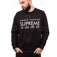 Supreme свитшот мужской черный • Бирка вшитая • Фотки наши