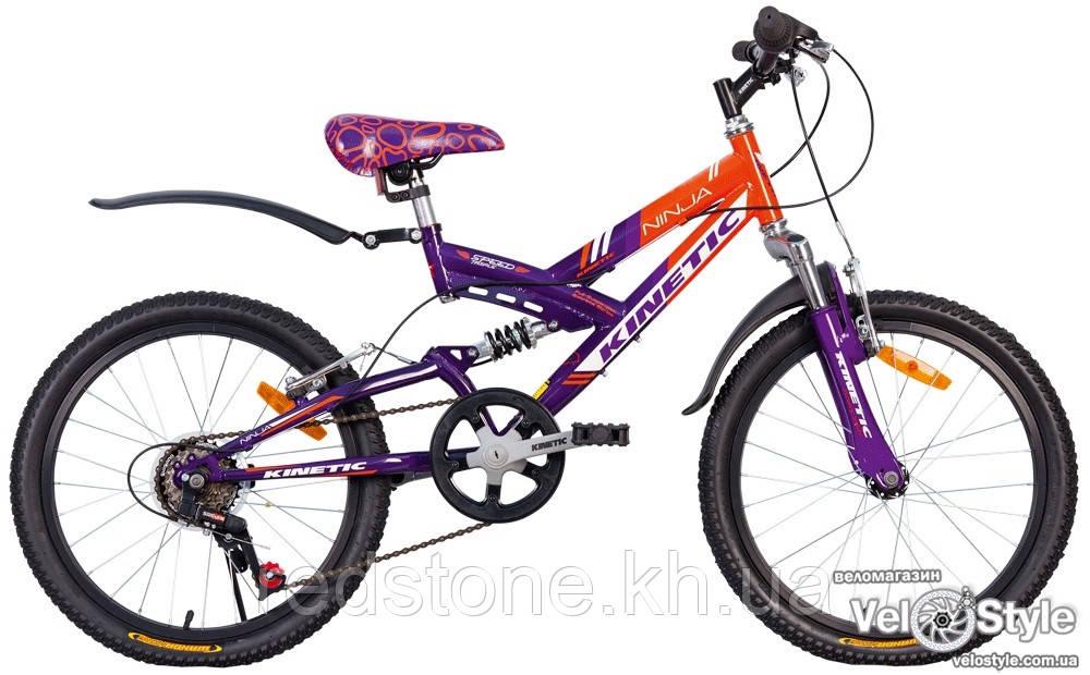 Велосипед KINETIC NINJA оранжево-фиолетовый