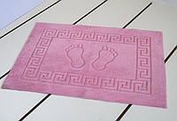Махровый коврик для ванной прорезиненный Lotus 45*65 розовый