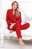Теплая фланелевая пижама-100% коттон S M L