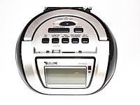 Бумбокс колонка караоке часы MP3 Golon RX 656Q Black