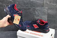 Кроссовки New Balance 878 Abzorb,замшевые,темно синие с красным, фото 3