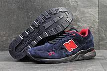 Кроссовки New Balance 878 Abzorb,замшевые,темно синие с красным, фото 2