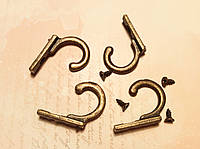 Крючек для ключницы №8 30*20мм 4шт бронза