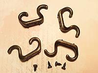 Крючек для ключницы двойной №3 35*15мм 4шт бронза