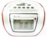 Бумбокс колонка караоке часы MP3 Golon RX 656Q Red