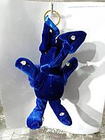 Синие брелки зайцы кролики из меха, меховые брелоки оптом 299