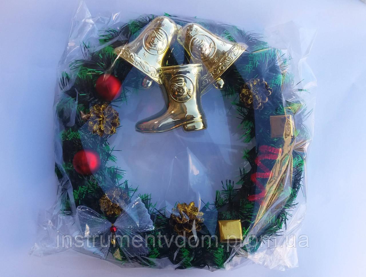 Венок декоративный рождественский их хвои (в упаковке)