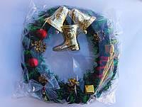 Венок декоративный рождественский их хвои (в упаковке) , фото 1