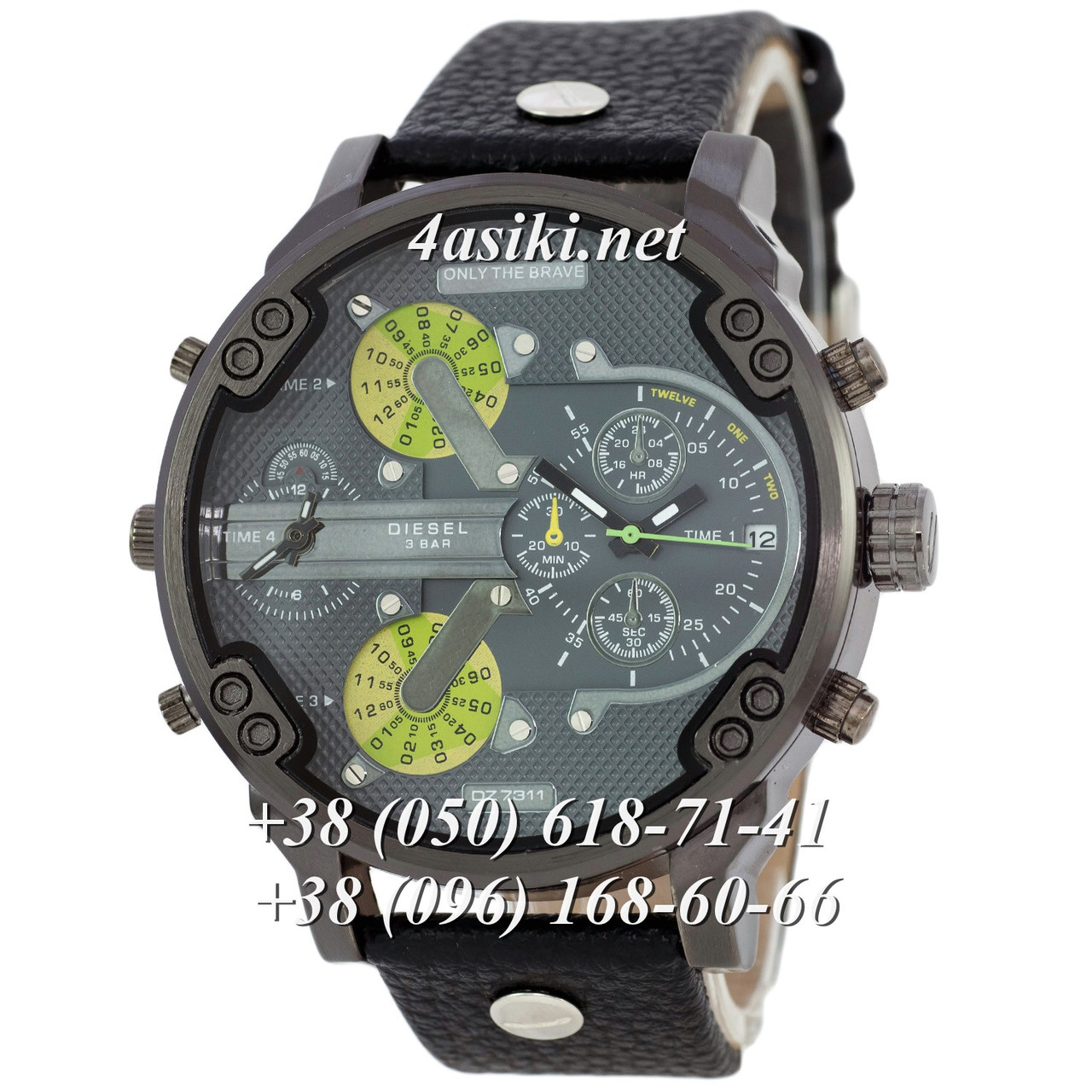 Часы Diesel DZ7314 All Black-Green реплика