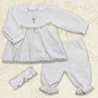 Комплект для Крещения для девочки велюр