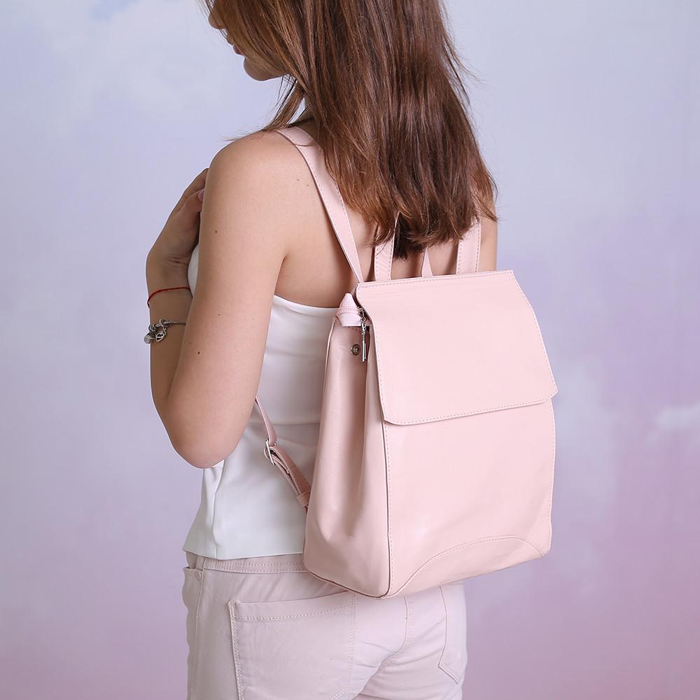 Рюкзак невеликий шкіряний під замовлення в будь-якому кольорі.