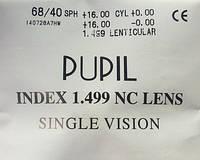 Полимерная линза для коррекция астигматизма Pupil 1,5 без покрытия. Корея