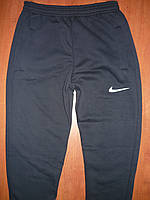 Мужские спортивные штаны Nike. На флисе. С манжетом. Синие