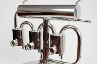 """Дистиллятор """"Элит"""" с 3-мя фильтрами отстойниками, со смотровыми окнами и спускными кранами."""