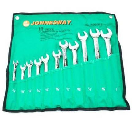 "Набор комбинированных ключей 3/8""-1"", 11 предметов, W26411SA JONNESWAY, фото 2"