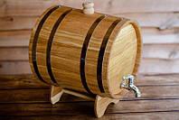 Жбан дубовый для напитков 5 литров, дубовая бочка