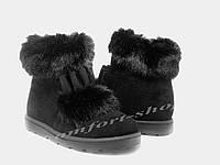 Женские ботинки на меху замшевые V 1150