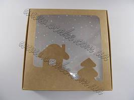 Коробка новогодняя для пряника 15*15*3 см