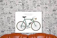 Велосипед. 40х50 см. Картина на холсте.