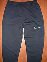 Мужские спортивные штаны Nike. На флисе. Без манжета. Синие