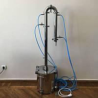 """Дистиллятор """"Универсал"""" с кубом 20 литров под газ, электро, индукционную плиту"""