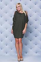 Стильное теплое платье хаки, фото 2