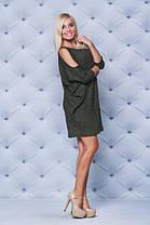 Стильное теплое платье хаки, фото 3