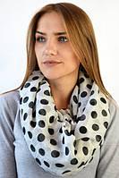 Легкий шарф-снуд из вискозы