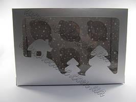 Коробка на 6 маффинов, новогодняя