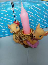 Сувенір-підсвічник миша з серцем