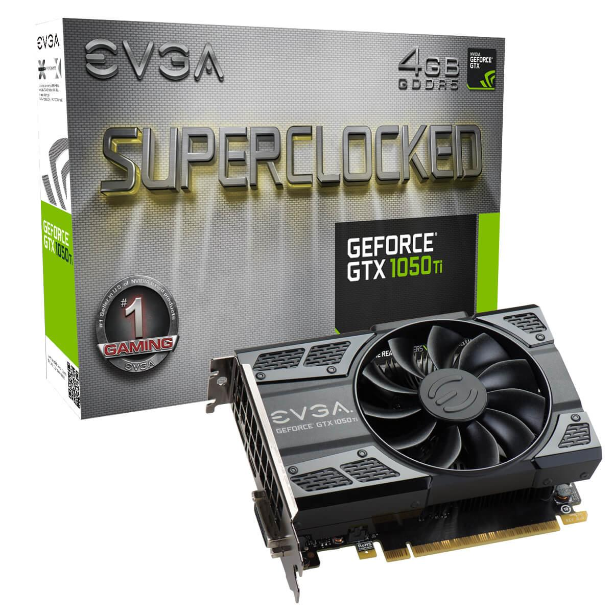 "Видеокарта EVGA GTX 1050 Ti 4GB SC GAMING ""Over-Stock"""