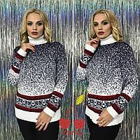 Женский свитер Зимние зарисовки