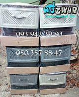 """Комод пластиковый 4 ящика """"Ефе пластик"""", серо-чёрный"""