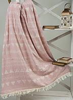 Плед микроплюш Barine Chalkboard Throw Pink 125*170 полурного размера