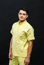 "Медицинский костюм мужской, желтый, ТМ ""Castello"""