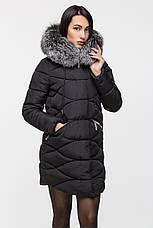 Удлинённая куртка женская Kattaleya с натуральным мехом, фото 2
