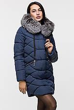 Удлинённая куртка женская Kattaleya с натуральным мехом, фото 3