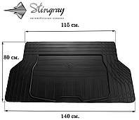 Коврики резиновые авто UNI(универсальный) Коврик багажника S (140см Х 80см). Коврик багажника Черный. Доставка по всей Украине. Оплата при получении