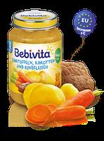 Пюре Bebivita Картоплю і моркву з яловичиною, 190 г