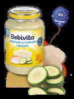 Пюре Bebivita Кабачок з курятиною та рисом, 220 г