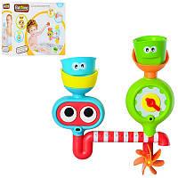 Детская игрушка для купания/ ванной  Водопад20003 , стрелка вращ,подвиж.глазки,емкость3шт,на присосках,в кор