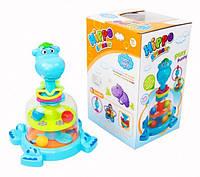 Детская игрушка для самых маленьких Юла Бегемотик SL83059 Бегемот