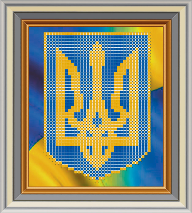 МЛ-13. Схема для вишивки бісером Герб України  продажа 80f646f195a1d