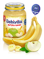 Фруктове пюре Bebivita Яблуко і банан, 190 г
