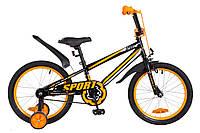 """Велосипед детский Formula Sport 18"""" черно-оранжевый"""