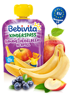 Фруктове пюре Bebivita Банан-чорниця-яблуко, 90 г