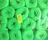 Нитки акриловые цвет салатовый, фото 2