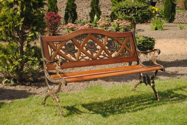 Скамейка садовая Praga с подлокотниками, фото 2