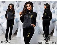 Качественный женский спортивный костюм  Эко кожа - 16126 р-р S   M женская одежда от производителя Украина   L